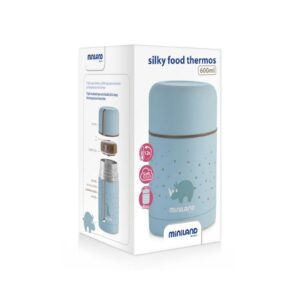 silky food thermos blue 600ml huge